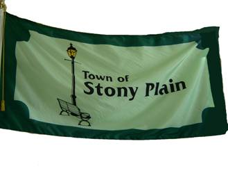 [flag of Stony Plain]