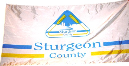 [former flag of Sturgeon County]