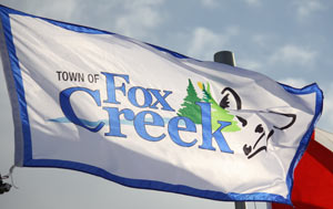 [flag of Fox Creek]