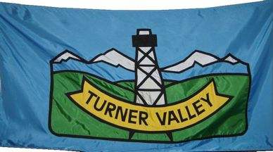 [flag of Turner Valley]