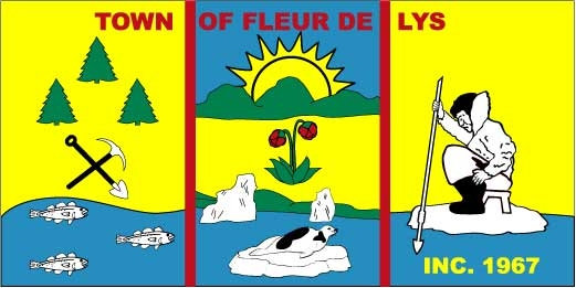 Flag of Fleur de Lys, Newfoundland and Labrador (Canada)