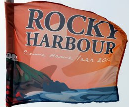 [Rocky Harbour homecoming flag 2012]