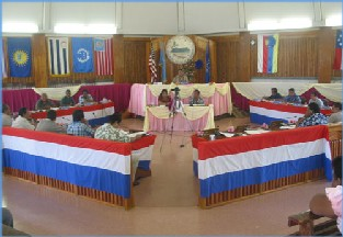 [flags in the legislative assembly]