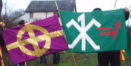 [Welsh Separatist flags]