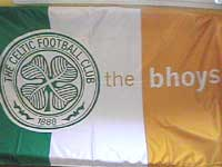 [Glasgow Celtic supporters flag]