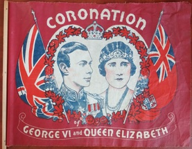 [Coronation of King George VI 1937 hand waver flag]