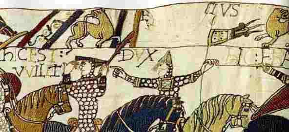 [Part of the Bayeux Tapestry]