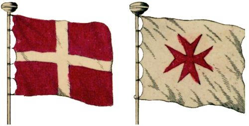[Malta in 18th C flag charts]