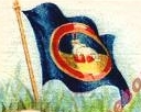[Unidentified 'Malay Straits' flag on a cigarette card]