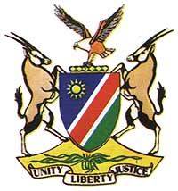 [Namibian Coat of Arms]