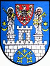 [Poznań city coat of arms]