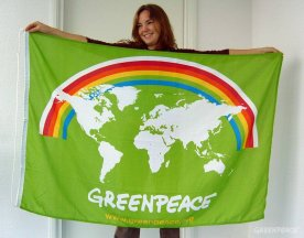 [Greenpeace flag adopted in 2007]