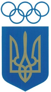 [National Olympic Committee of Ukraine emblem.]