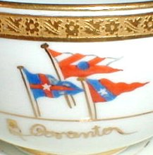 Pennant flags on Cauldon china