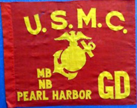 [Marine Corps Dress Guidon]