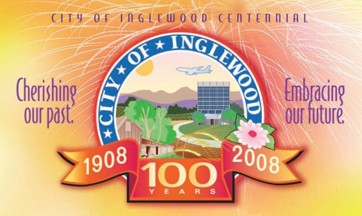 [Inglewood Centennial flag, California]