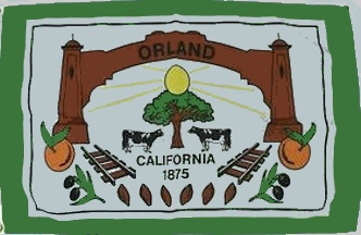 [flag of Orland, California]
