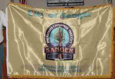 [flag of City of Sanger, California]