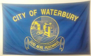 [flag of Waterbury, Connecticut]