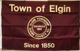 [Elgin Township, Illinois flag]