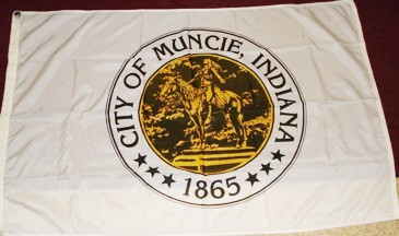 [Muncie, Indiana flag]