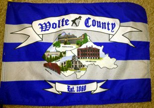 [flag of Wolfe County, Kentucky]