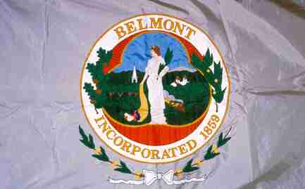 [Flag of Belmont, Massachusetts]