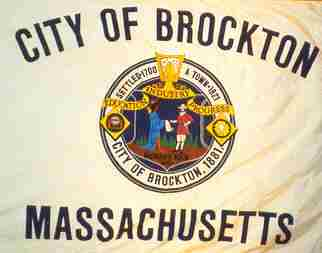 [Flag of Brockton, Massachusetts]