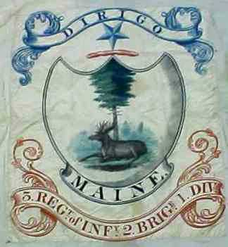 [Center panel from one of the 1822 printed Maine Militia Colors]