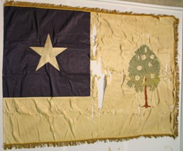 [Flag found in Mississippi's old capitol building]