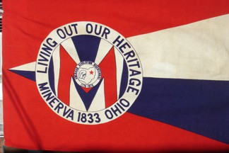 [Flag of Minerva, Ohio]
