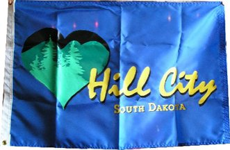 [Flag of Hill City, South Dakota]