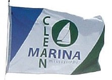 [Mississippi Clean Marina flags]