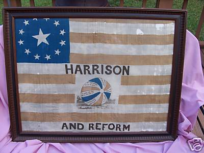 [Wm. Henry Harrison election flag]