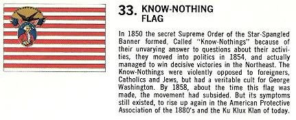 Know Nothing Party flag