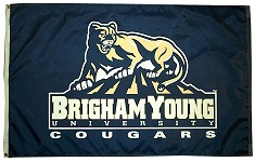 [Flag of Brigham Young University Cougars, Utah]