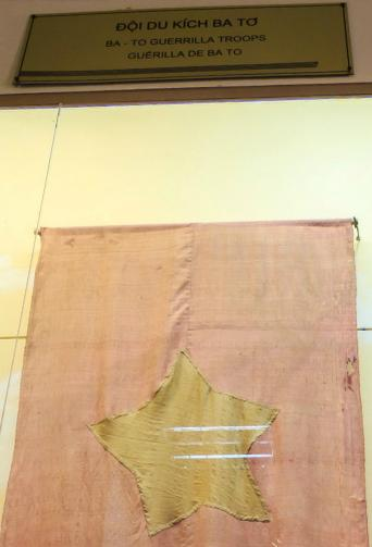 [Flag from Vietnamese Military History Museum]
