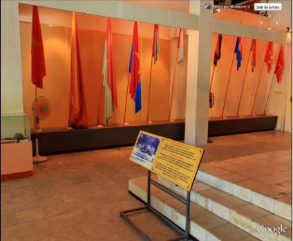 Unknown flags in Vietnam Military History Museum