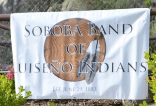 [Soboba Band of Luiseño Indians flag]