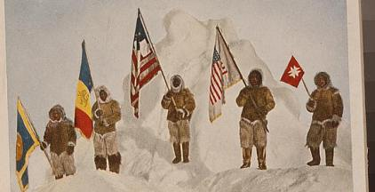 flags at the North Pole